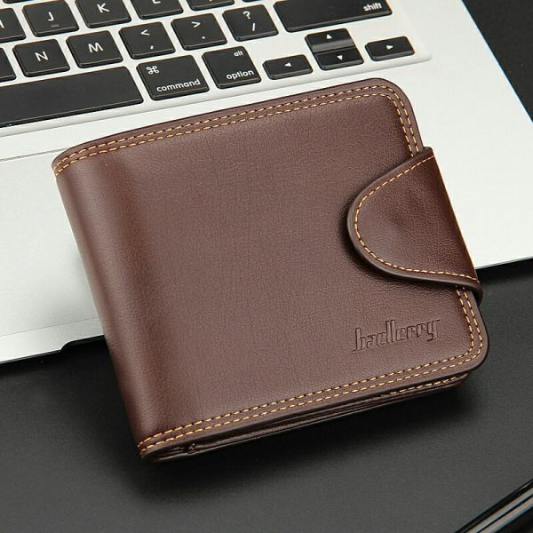 Small Men Wallets Credit Card Holders Zipper Luxury Brand Famous Handmade Leather Men Wallet Coin Pocket