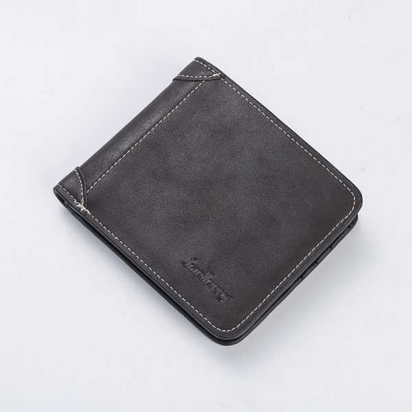 Top  Vintage Men Leather Brand Luxury Wallet Short Slim Male Purses Money Clip Credit Card