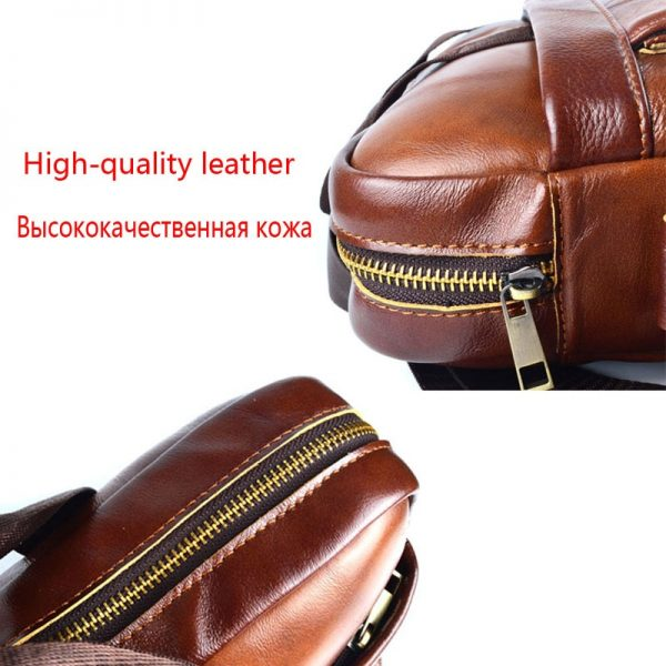 AETOO Genuine Leather real leather laptop bag business Handbags Cowhide Men Crossbody Bag Men s Travel