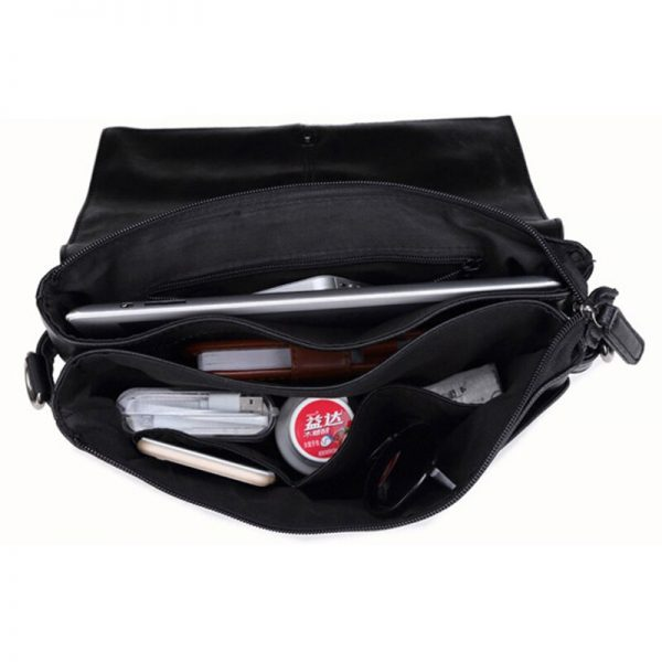 Brand Men s Briefcase PU Leather Messenger Travel Bag Simple Business Tote Man Casual Crossbody Briefcases