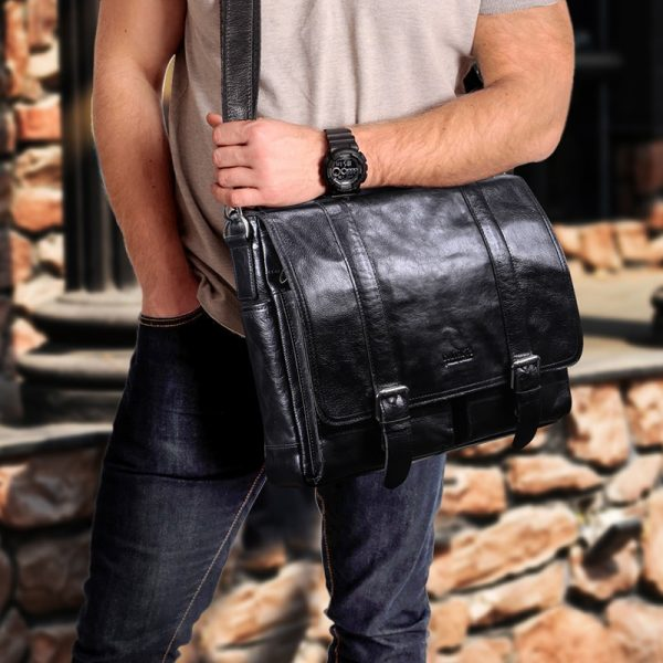CONTACT S vegetable leather men briefcase for lawyers inch laptop handbag ipad large vintage business male