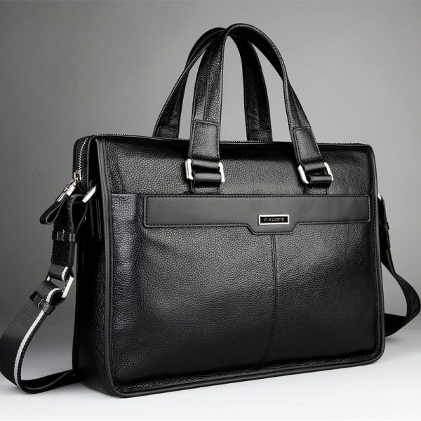 Genuine leather briefcase laptop leather bag for  inch notebook computer   inch laptop bag