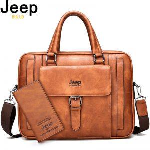 Split Leather Laptop Bag