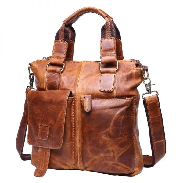 JOYIR Genuine Leather Men s Briefcase Male Leather Business Office Laptop Men s Bag Messenger Shoulder