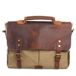 Canvas Leather Briefcase
