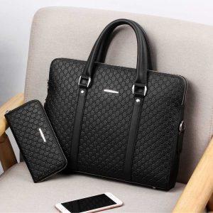 Double Layer Men's Laptop Bags