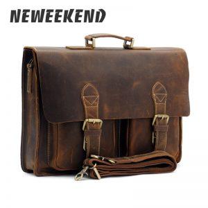 best vintage leather briefcase