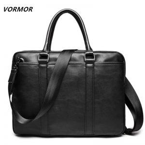 VORMOR Promotion Simple Famous Brand Business Men Briefcase Bag Luxury Leather Laptop Bag Man Shoulder Bag