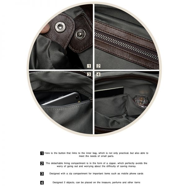 WESTAL  Women s Briefcases Genuine Leather Laptop Bag Female Embossing Women Office Bags Business Bag