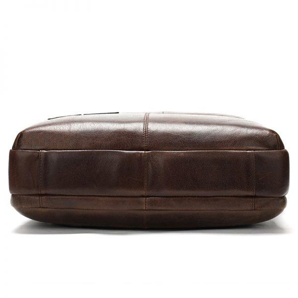 WESTAL Business Men Briefcase Laptop Bag Leather Men s Messenger Bag Genuine Leather Work Office Bags