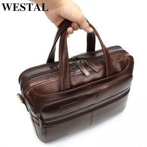 Leather Men's Laptop Bag