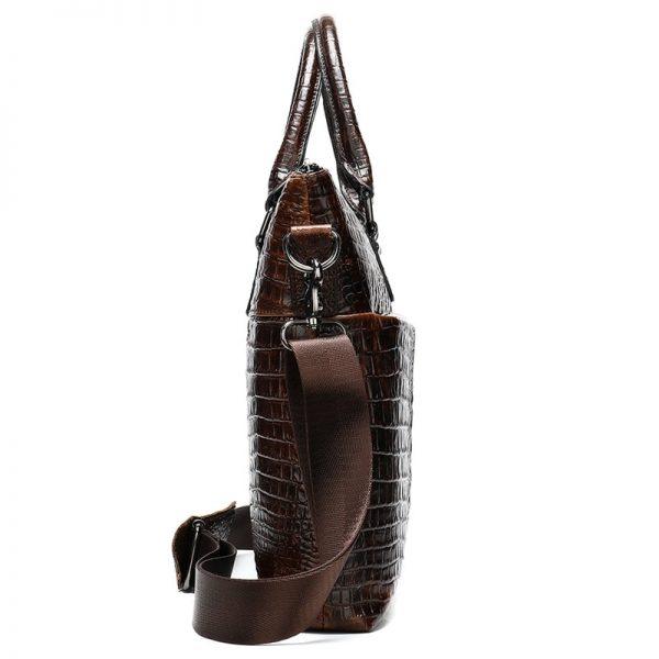 WESTAL Men Briefcase Men s Bag Genuine Leather Office Bags for Men Laptop Bag Leather Briefcase