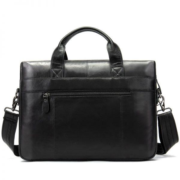 WESTAL Men Briefcases Men s Bag Genuine Leather office Bags for Men Laptop Bag Leather Briefcase