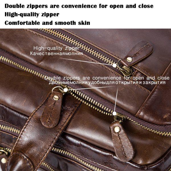 WESTAL Men s Briefcase Male Genuine Leather Men Bags Messenger Leather Laptop Bag Office Bag for