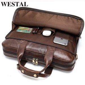 Genuine Leather Men's Laptop Bags