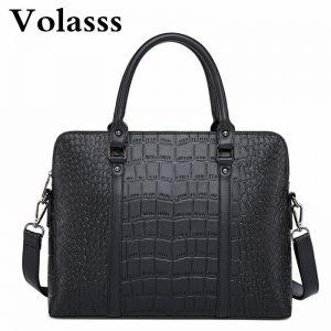 Crocodile Skin Style Briefcase Laptop Bags
